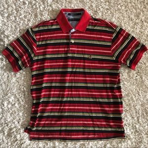 Tommy Hilfiger Vintage Polo Shirt Striped Large